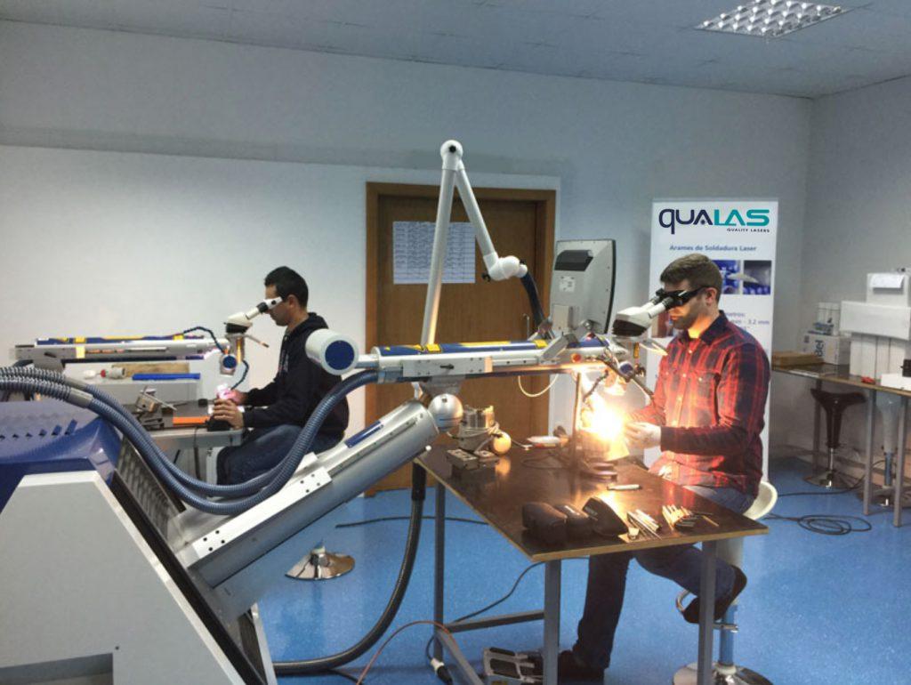 formación con sistemas láser